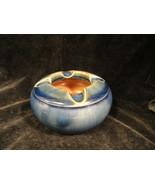 Royal Doulton Blue Pottery Ashtray English Signed Mint - $31.99