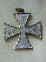 "Sterling Silver Maltese Cross Pendant 3/4"" - $39.59"