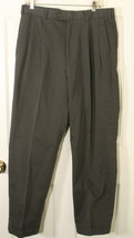 NATURAL ISSUE PLEATED CUFFED MEN'S GRAY PANTS 34 x 30 NWOT SOFT FABRIC - $19.79