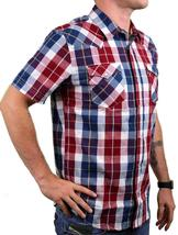 NEW LEVI'S MEN'S CLASSIC COTTON CASUAL BUTTON UP PLAID RED & NAVY 3LYSW0752 image 4
