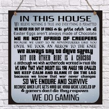 Personalised Gamer Family Rules In This House Plaque Geek Skyrim COD GTA... - $9.84+