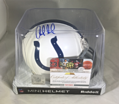 ANDREW LUCK - INDIANAPOLIS COLTS - AUTOGRAPHED COLTS LOGO MINI HELMET - W/ COA image 8