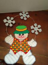 handmade plastic canvas christmas holiday winter cute snowman wall door ... - $20.00