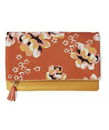 "NEW Rachel Pally ""Zahara"" Faux Leather Floral Print Zipper Fold Clutch Bag - $29.69"