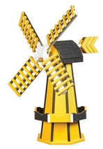"41"" POLY WINDMILL - Yellow & Black Working Dutch Garden STEELERS Weather... - $413.41 CAD"