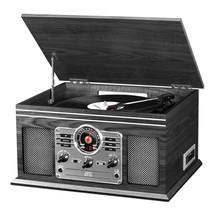 Innovative VTA-200B-GRY 6-in-1 Victrola Record Player Turntable Cassette... - £80.79 GBP