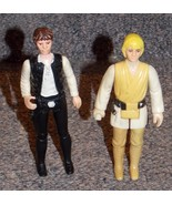 Vintage 1977 Star Wars Luke Skywalker & Han Solo Figures - $79.99