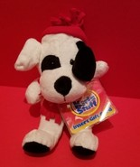 Toy Holiday Puppy Plush White Dog Santa Hat Christmas Gift Card Stuffed ... - $9.49