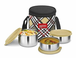 Milton Smart Meal Insulated Lunch Box, Set of 3, Yellow - $30.84