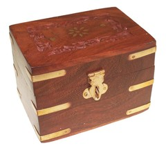 Aromatherapy Carved Wooden Box Holds 6x10ml Essential Oils Bottles Gift ... - $16.11