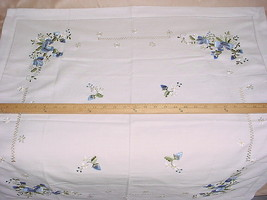 "BREATHTAKING IMPORT HANDMADE EMBROIDERED FLORAL 33"" BY 33"" TABLE COVER - $43.30"