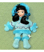 "10"" Arctic Circle ALASKAN DOLL Native Inuit Eskimo BLUE Black Hair Beanb... - $16.39"