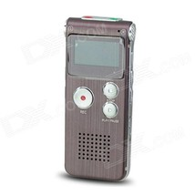 """Portable 1.0"""" LED Digital Voice Recorder - Wine Red (8GB) - $28.49"""