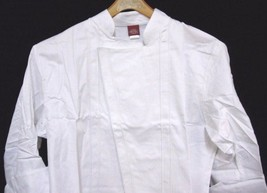 Dickies Executive Chef Coat 52 White Changeable Buttons Topstitch CW0701... - $39.17