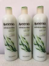 Lot 3x Aveeno Positively Nourishing Purifying Seaweed + Oatmeal Body Was... - $29.69