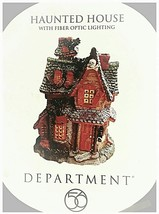 Department 56 Haunted House with Fiber Optic Lighting No. 56.3366 - $150.95