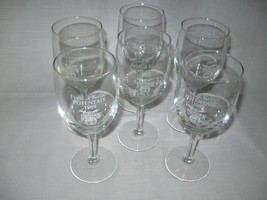 Crystal Clear Stem Wine Goblets Qty 6 Potentate Fred J Keller Osman Shri... - $16.95