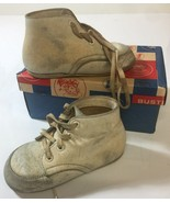Vintage Buster Brown White Linden High Top Shoes Size 5 D Robin Hood Sol... - $18.69