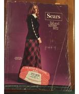 1972 Sears Fall and Winter Catalog Fashion Book Hard Copy Big Book - $75.00