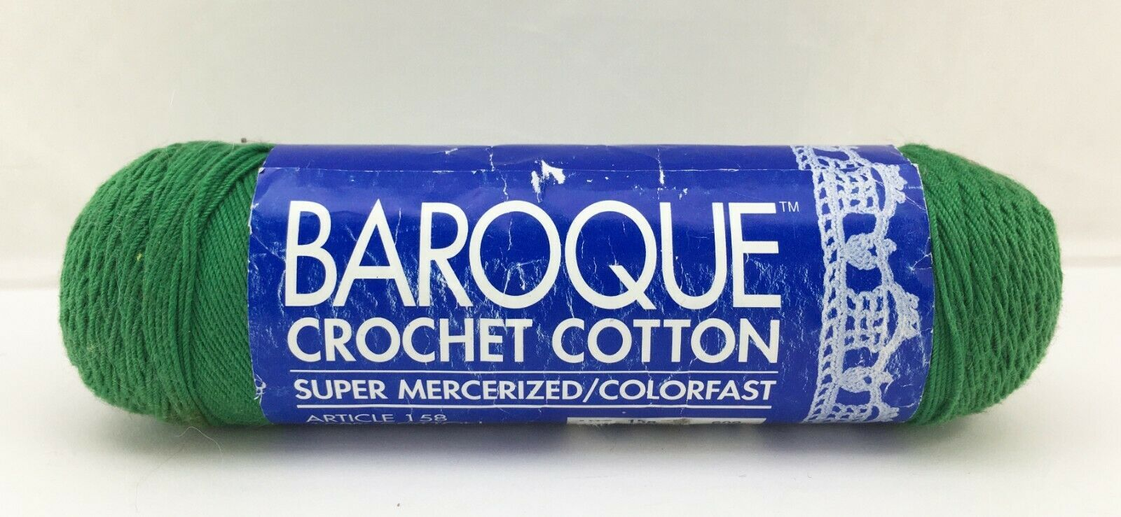 DMC Baroque Cotton Crochet Thread - One Skein Christmas Green #699 - $6.60