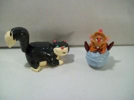 LOT OF 2 DISNEY PRINCESS CINDERELLA PVC FIGURES LUCIFER CAT JAQ MOUSE YA... - $18.57