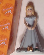 Enesco Growing Up Birthday Girl Figurine Age 10 Blonde Blue Dress Vintage - $12.82