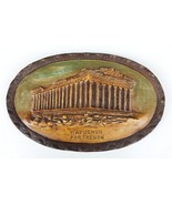 Antique Wall Hanging Handpainted Parthenon Decorative Decoration 1925 - $205.35