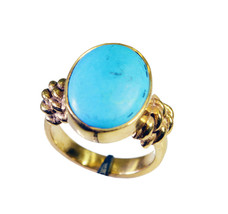 charming Turquoise Gold Plated Multi Ring Natural simply US gift - $9.99