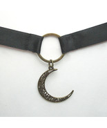Black O Ring Crescent Moon Choker - $25.00