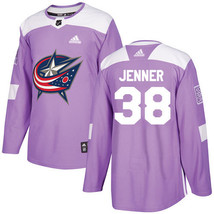 NHL Boone Jenner Men's Columbus Blue Jackets Fights Cancer Jersey - Purple - $1.285,23 MXN