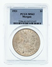 1921 $1 Silver Morgan Dollar Graded by PCGS as MS-63! Gorgeous Morgan! - $69.29