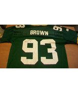GILBERT BROWN AUTOGRAPHED GREEN BAY PACKERS JERSEY, #93 SUPER BOWL CHAMPION - $297.00
