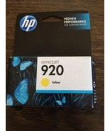 HP 920 Yellow Original Ink Cartridge (CH636AN)  *New/Sealed* - £5.96 GBP