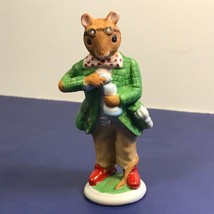 Franklin Mint Woodhouse Mouse Figurine Porcelain Mice 1985 Alexander Steampunk - $19.75
