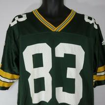Vintage Adidas NFL Terry Glenn 83 Green Bay Packers Football Jersey M  - $69.25