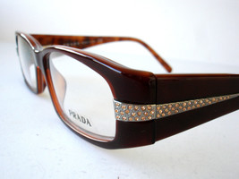 Prada Eyeglasses VPR 12H Brown 7OI-1O1 Authentic 51-15-135 - $116.83