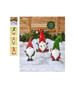 Metal Gnome Christmas Yard Stake Holiday Gnome Welcome Sign Yard Decorat... - $28.98