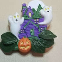 Avon Pin Halloween Vintage Light Up Haunted House Ghosts 1995 Holiday Brooch - $10.88