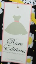 Rare Editions Girls Cotton Lace Sleeves Back Yellow Black Flowers Size 5 image 6