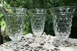 Vtg 3 Fostoria American Iced Tea Stems Water Glass Crystal Goblet Stems ... - $43.99