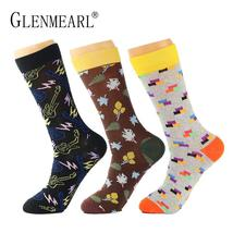 5 Pairs/Lot Combed Cotton Men Socks Plus Size  Quality Coolmax Colorful ... - $35.40
