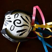 Mexican Dia de los Muertos Day of the Dead Puppy Dog Paper Mache Maraca Rattle image 4