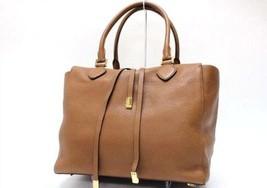 Authentic Michael Kors Miranda Tote Bag Large Luggage Brown - $1,050.00