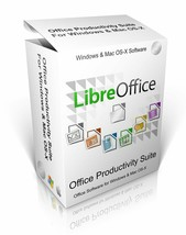 LibreOffice  - Office Software Suite For Windows Vista 7, 8, 10 & Mac OS-X - $10.00