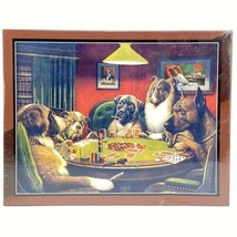 Bits & Pieces Poker Dogs CM Coolidge 550 Piece Jigsaw Puzzle - Sealed - $29.44