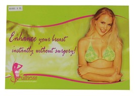 Fullness Women's Silicone Breast Enhancer Push Up Pads With Brown Nipple #1001B image 2