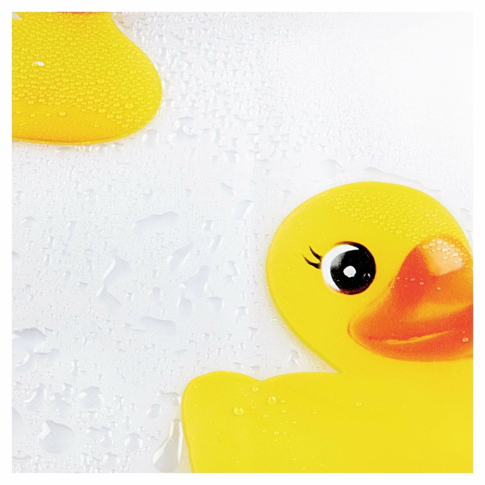 NEW Bath Ducks Vinyl Shower Curtain Rubber Ducky Waterproof FAST Shipping