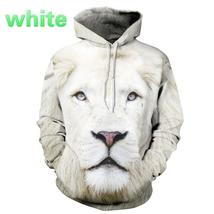 2016 Men hoodies hip hop sweatshirt funny 3D Tiger Lion fashion brand plus size