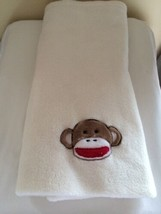 "Baby Starters Cream Monkey Baby Blanket Embellished Soft 30"" by 38"" - $22.76"
