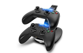 Dual Game Controller USB Charging Dock with LED Lights - $19.99